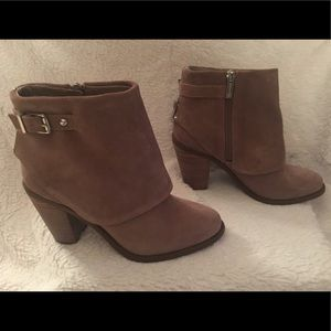 Jessica Simpson Shoes - Jessica Simpson Taupe Suede Cassley Booties